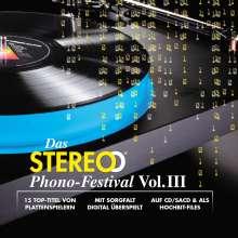 Das Stereo Phono-Festival Vol.III, 1 Super Audio CD und 1 DVD-ROM
