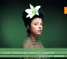 """Antonio Vivaldi (1678-1741): Violinkonzerte RV 186,278,282,288,330,380 - """"La Boemia"""", CD"""