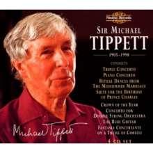 Michael Tippett (1905-1998): Tippett dirigiert Tippett, 4 CDs