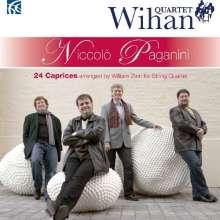 Niccolo Paganini (1782-1840): Capricen Nr.1-24 für Streichquartett, CD