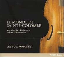 Sieur de Sainte-Colombe (1640-1700): Konzerte für 2 Violen (Ausz.), CD