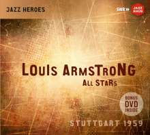 Louis Armstrong (1901-1971): Louis Armstrong All Stars: Stuttgart 1959, 1 CD und 1 DVD