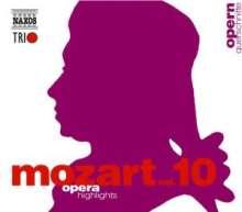 Wolfgang Amadeus Mozart (1756-1791): Naxos Mozart-Edition 10 - Opern-Querschnitte, 3 CDs