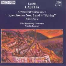 Laszlo Lajtha (1892-1963): Symphonien Nr.3 & 4, CD