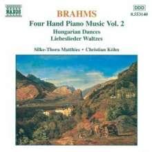 Johannes Brahms (1833-1897): Klaviermusik zu 4 Händen Vol.2, CD