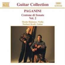 Niccolo Paganini (1782-1840): Centone di Sonate f.Violine & Gitarre Vol.2, CD