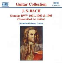 Johann Sebastian Bach (1685-1750): Sonaten BWV 1001,1003,1005 für Gitarre, CD