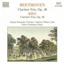 Ferdinand Ries (1784-1838): Trio für Klarinette,Cello & Klavier op.28, CD