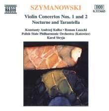 Karol Szymanowski (1882-1937): Violinkonzerte Nr.1 & 2, CD