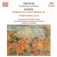 Vincent d'Indy (1851-1931): Symphonie sur un chant montagnard français für Klavier & Orchester op.25, CD