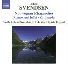 Johan Svendsen (1840-1911): Norwegische Rhapsodien Nr.1-4, CD