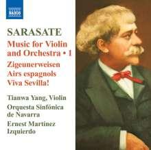 Pablo de Sarasate (1844-1908): Musik für Violine & Orchester Vol.1, CD