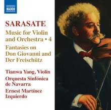 Pablo de Sarasate (1844-1908): Musik für Violine & Orchester Vol.4, CD