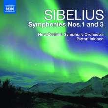 Jean Sibelius (1865-1957): Symphonien Nr.1 & 3, CD