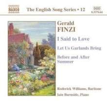 Gerald Finzi (1901-1956): Liederzyklen opp.16,18,19b, CD