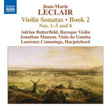 Jean Marie Leclair (1697-1764): Sonaten für Violine & Bc Heft 2 Nr.1-5,8, CD