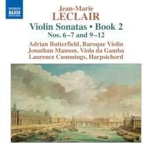 Jean Marie Leclair (1697-1764): Sonaten für Violine & Bc Heft 2 Nr.6, 7, 9-12, CD
