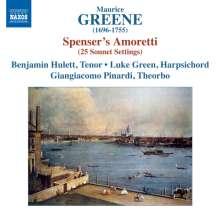 Maurice Greene (1696-1755): Spencer's Amoretti - 25 Sonnet Settings, CD