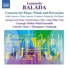 Leonardo Balada (geb. 1933): Konzert für Klavier, Bläser & Percussion, CD