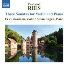 Ferdinand Ries (1784-1838): Sonaten für Violine & Klavier Vol.1, CD