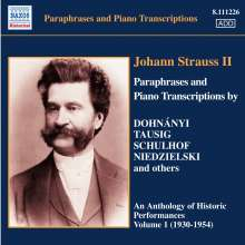 Paraphrasen & Transkriptionen nach Werken von J.Strauss II, CD