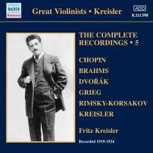 Fritz Kreisler - The Complete Recordings Vol.5, CD
