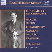 Fritz Kreisler - The Complete Recordings Vol.6, CD
