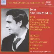 John McCormack-Edition Vol.11 / The Gramophone Company Ltd. & Victor Talking Machine Company Recordings, CD