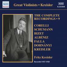 Fritz Kreisler - The Complete Recordings Vol.9, CD