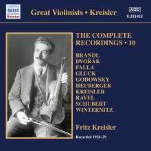 Fritz Kreisler - The Complete Recordings Vol.10, CD