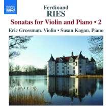 Ferdinand Ries (1784-1838): Sonaten für Violine & Klavier Vol.2, CD
