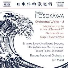 Toshio Hosokawa (geb. 1955): Orchesterwerke Vol.3, CD