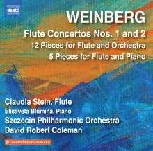 Mieczyslaw Weinberg (1919-1996): Flötenkonzerte Nr.1 & 2 (op.75 & op.148), CD