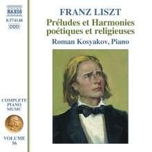 Franz Liszt (1811-1886): Klavierwerke Vol.56 - Preludes et Harmonies poetiques et religieuses, CD