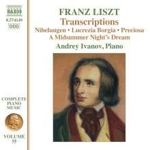 Franz Liszt (1811-1886): Klavierwerke Vol.55 - Transcriptions, CD
