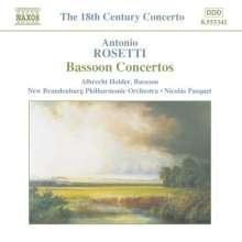 Antonio Rosetti (1750-1792): Fagottkonzerte Murray C69,73-75, CD