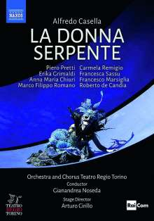 Alfredo Casella (1883-1947): La Donna Serpente, DVD