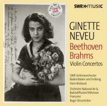 Ginette Neveu - Beethoven / Brahms, 2 CDs