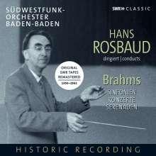 Johannes Brahms (1833-1897): Hans Rosbaud conducts Johannes Brahms, 6 CDs