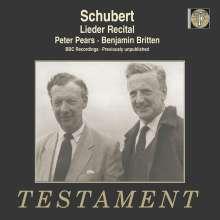 Peter Pears & Benjamin Britten - Schubert, CD