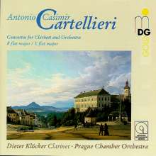 Antonio Casimir Cartellieri (1772-1807): Klarinettenkonzerte Nr.1 & 3, CD