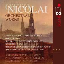 Otto Nicolai (1810-1849): Orchesterwerke Vol.2, CD
