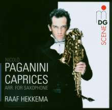 Niccolo Paganini (1782-1840): Capricen op.1 Nr.1-24 für Saxophon, CD