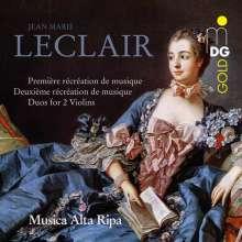 Jean Marie Leclair (1697-1764): Recreations de Musique opp.6 & 8 für 2 Violinen & Bc, CD