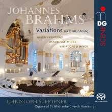 Johannes Brahms (1833-1897): Haydn-Variationen op.56 für Orgel, Super Audio CD