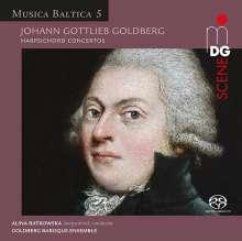 Johann Gottlieb Goldberg (1727-1756): Cembalokonzerte Es-dur & d-moll, Super Audio CD