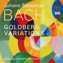 Johann Sebastian Bach (1685-1750): Goldberg-Variationen BWV 988 für Saxophonquartett, Super Audio CD