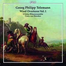 Georg Philipp Telemann (1681-1767): Ouvertüren für Bläser Vol.1, CD