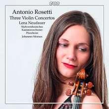 Antonio Rosetti (1750-1792): Violinkonzerte C-Dur,D-Dur,F-Dur (Murray C5,C7,C11), CD