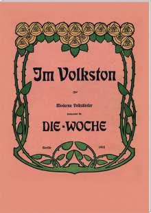 Lieder im Volkston für Gesang & Klavier (Exklusiv für jpc), Noten
